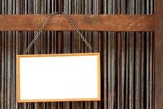 Blank blackboard label Stock Photography