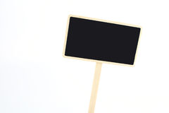 A blank blackboard label isolated on a white background. Stock Photography