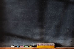 Blank blackboard with Light  Effect Stock Photography