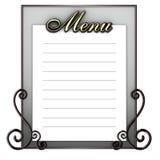 Blank blackboard menu Royalty Free Stock Images