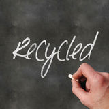 Blank Blackboard Recycled Stock Photos