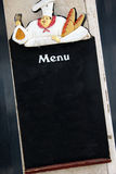 Blank blackboard for a restaurant menu Stock Photography