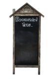 Blank blackboard or sandwich board Royalty Free Stock Photos