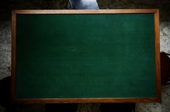 Blank blackboard table mock-up texture Royalty Free Stock Photography