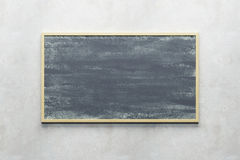 Blank blackboard on the wall Royalty Free Stock Photo