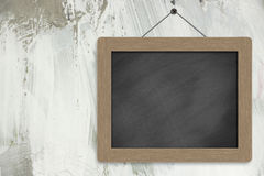 Blank blackboard on the wall Stock Photos