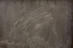 Blank blackboard with white smudges from eraser Stock Photography