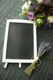 Blank blackboard. With wooden frame Stock Image