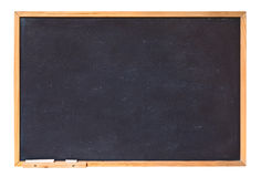 Blank blackboard. With wooden frame and chalk - empty chalkboard isolated with clipping path Royalty Free Stock Photos