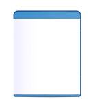 Blank Blu-ray Box Isolated. On white with clipping path Stock Photography