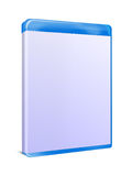 Blank Blu-ray Box Isolated. On white with clipping path Stock Images