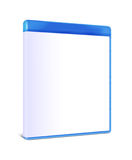 Blank Blu-ray Box Isolated. On white with clipping path Royalty Free Stock Photos