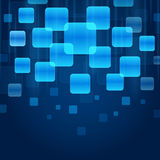 Blank blue app icon Royalty Free Stock Photo