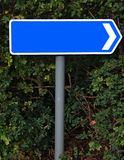 Blank blue arrow sign Royalty Free Stock Images