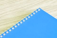 Blank blue book empty cover book spiral stationery school supplies for education business idea book cover design note pad memo royalty free stock photos