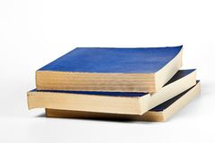 Blank blue books Royalty Free Stock Images