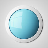 Blank blue button Royalty Free Stock Photo