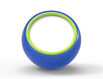Blank blue button 3d render Stock Photography