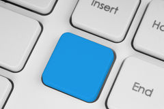 Blank blue button on the keyboard Royalty Free Stock Image