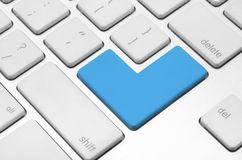 Blank blue button Royalty Free Stock Image