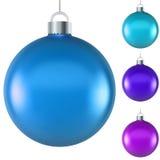Blank blue Christmas ball stock illustration