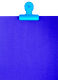 Blank Blue Clipboard For A Message Or Notice Stock Image