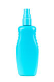 Blank blue cosmetic bottle with atomizer Royalty Free Stock Photography