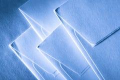 Blank blue envelopes Royalty Free Stock Photos