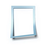 Blank blue frame Royalty Free Stock Photography
