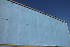 Blank Blue Papered Billboard Stock Images