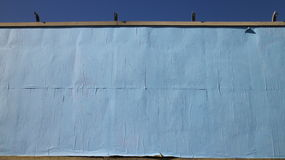 Blank Blue Papered Billboard Stock Photos