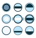 Blank blue retro vintage badges and labels Royalty Free Stock Photos