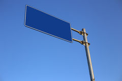 Blank Blue Road Sign Stock Images
