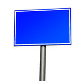 Blank Blue Road Sign. Isolated on White Background royalty free stock photography
