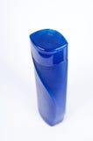 Blank blue shampoo bottle Stock Images