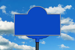 Blank Blue Sign Royalty Free Stock Images