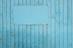 Blank blue sign on blue background Royalty Free Stock Images