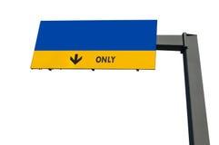 Blank blue traffic billboard Royalty Free Stock Image