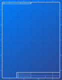 Blank blueprint paper for drafting Stock Photos