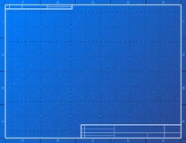 Blank blueprint paper for drafting Royalty Free Stock Images
