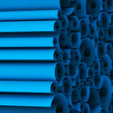 Blank blueprint roll of paper. 3D Render by me Royalty Free Stock Photography