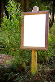 Blank board Stock Image