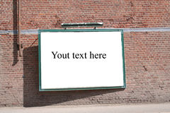 Blank board. With  space for you text Stock Images