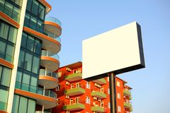 Blank board for adds outside at street. Stock Image