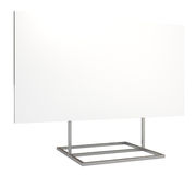 Blank board, clipping path, 3d illustration. Blank board, clipping path included, 3d illustration, isolated on white Stock Photo