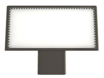 Blank board, clipping path included. 3d illustration Royalty Free Stock Photography