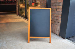 Blank Board Menu Mock-up, Stand At The Entrance Of The Restaurant Royalty Free Stock Photo
