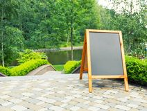 Blank board in park Royalty Free Stock Photo