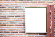 Blank board on the wall Stock Image