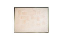 Blank board on white background Royalty Free Stock Photography